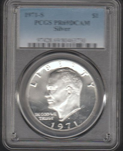 1971 S Eisenhower (1971-1978) $1 PR-69 DCAM PCGS