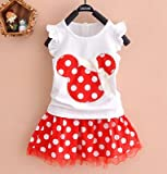 Baby Girls Minnie Mouse Party Dress Vest Skirt 2-3 years