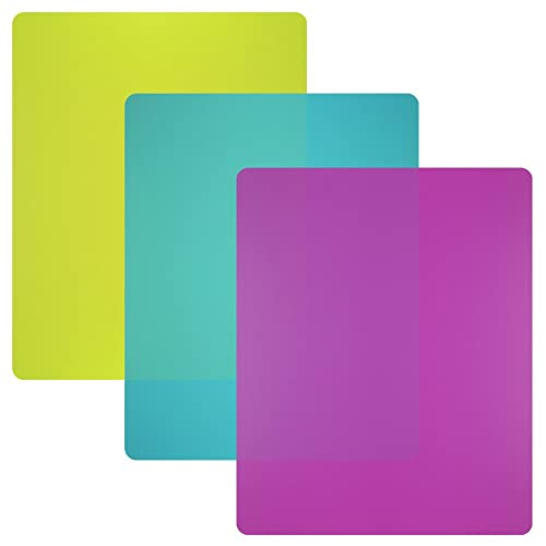 Nicole Home Collection Flexible Plastic Cutting Board Mats Set