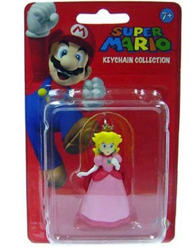 Amazon.com: PopCo Super Mario Mini Figura llavero Peach ...