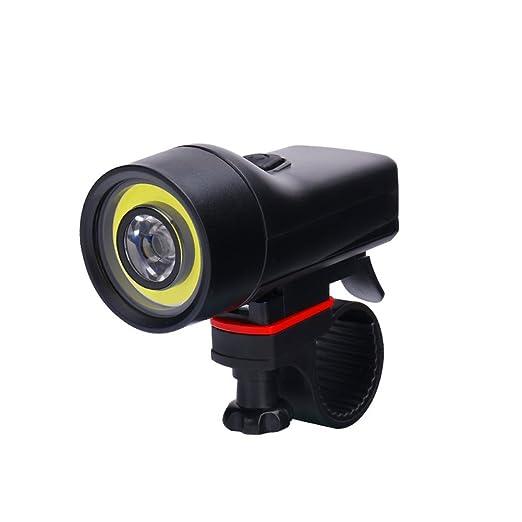 Juego de luces para bicicleta, linterna para bicicleta recargable por USB, 4 modos de