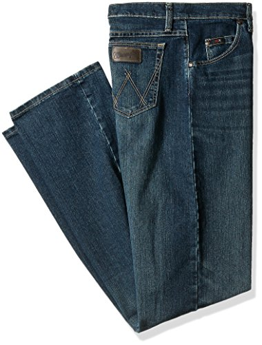 Wrangler Men's Tall Size 20X Advanced Comfort 01 Competition Relaxed Fit Jean, Root Beer, - Root Fit Straight Jean Denim