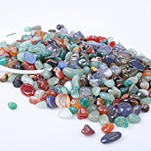 "Hongjintian Natural Green Aventurine Tiger Eye & Multi Agate Tumbled Stones Mix Tumbled Rocks Polished Gravel Stones and Crystals | Natural Tumbled Crystals Stone | 1.1lbs a Lot | 0.2"" to 0.39"" Avg."