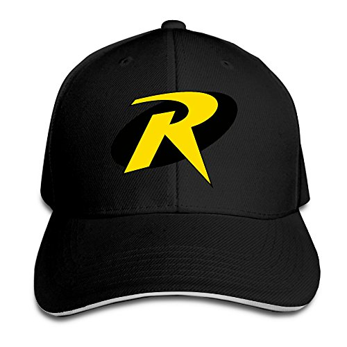 OYOLOY Unisex Robin Symbol Peaked Baseball Cap Snapback Hats (Robin Custome)