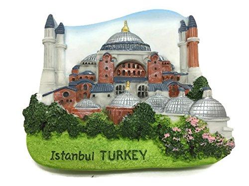 Istanbul Turkey Food - Istanbul Turkey Hagia Sophia Church 3D Resin TOY Fridge Magnet
