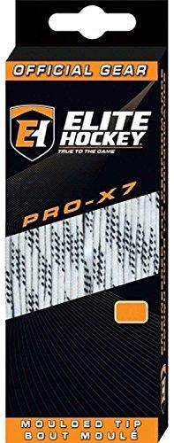 Elite Hockey PRO-X7 Skate Laces (X7-White, 108