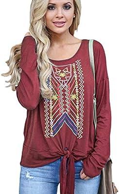 SETGVFG Blusas De Mujer Moda Vintage Blusa Estampada Casual Blusa ...