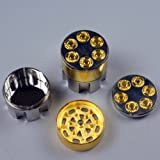 six shooter pipe with grinder - 6 Shooter - 3 Part Magnetic Tobacco Grinder
