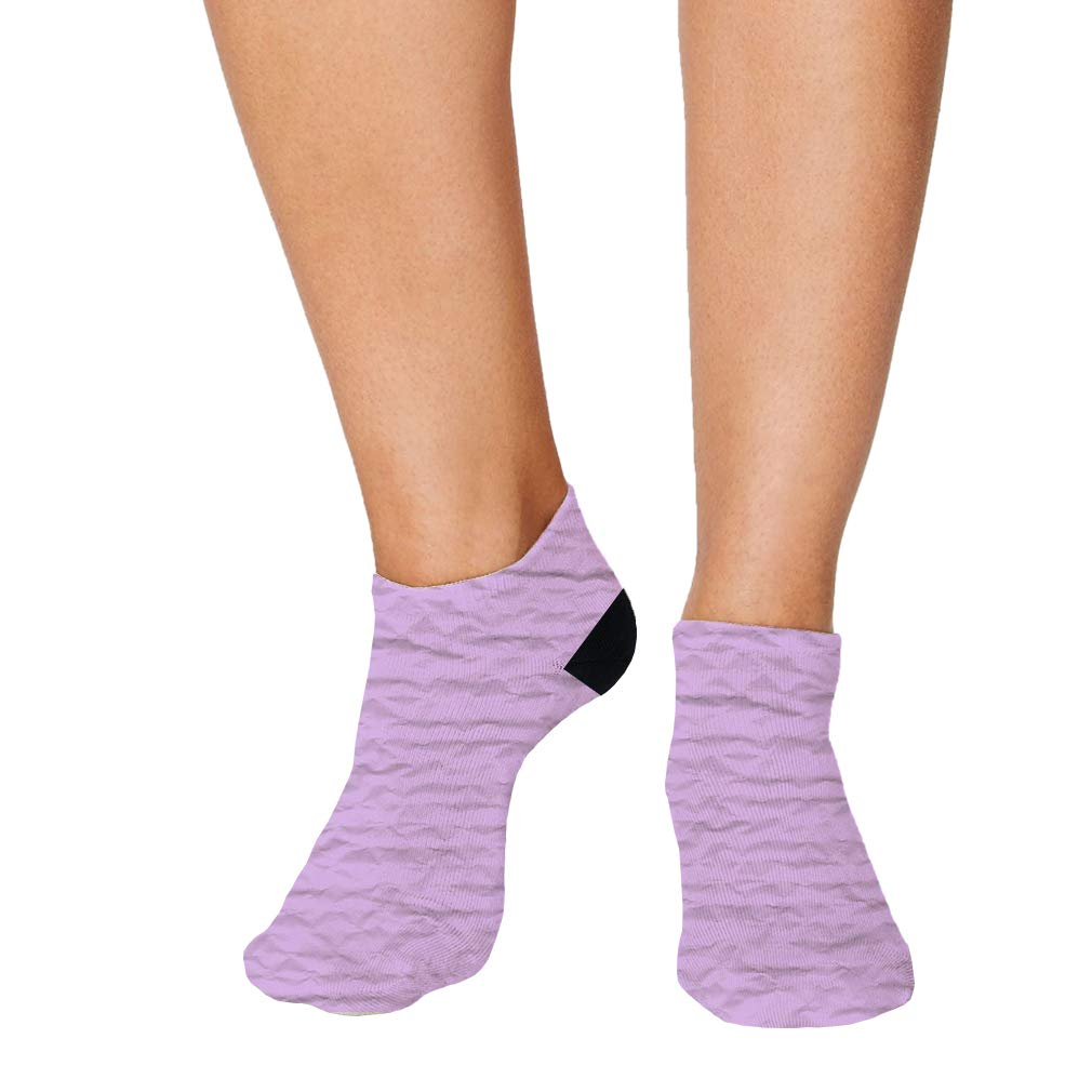 Purple Crumpled Paper Style1 Men-Women Adult Ankle Socks Crazy Novelty Socks