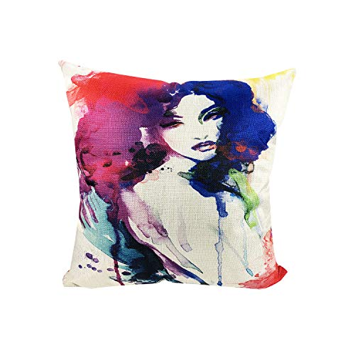 (MuaToo Decorative Abstract Woman Portrait Throw Pillow Case Cushion Cover 18