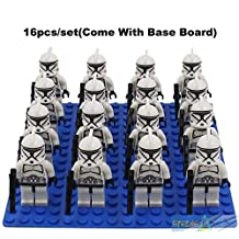 16 Pieces CLONE TROOPER Minifigures Building Blocks Figurine