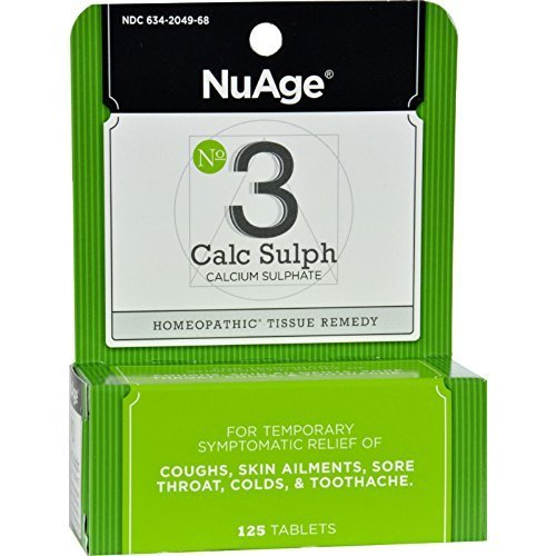 Nuage Labs #3 Calc Sulph 125 tab ( Multi-Pack)