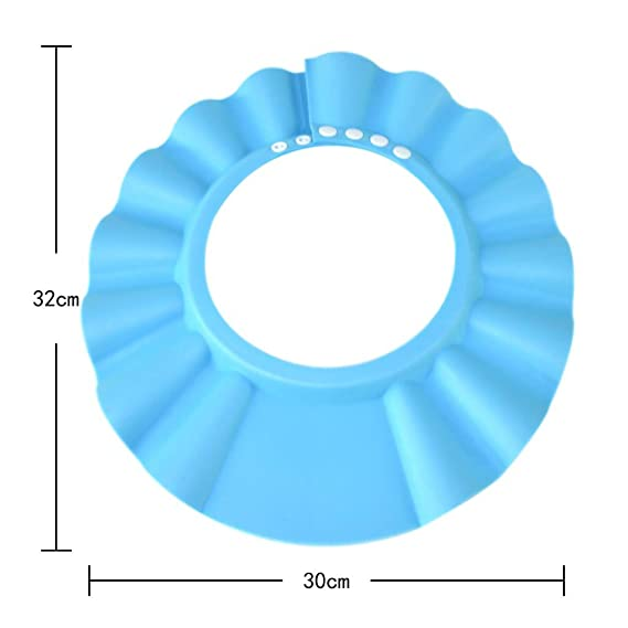 Hooyee Safe Shampoo Shower Bathing Protection Bath Cap Soft Adjustable Visor Hat For Toddler Baby Kids Children Blue Baby Amazon Com