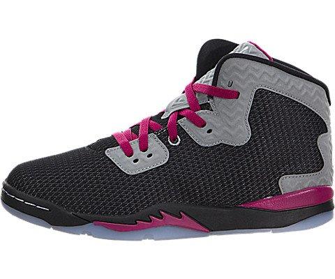 Nike Jordan Kids Jordan Spike Forty Gp Black/White/Rflct Slvr/Sprt Fchs Basketball Shoe 12.5 Kids US by Jordan