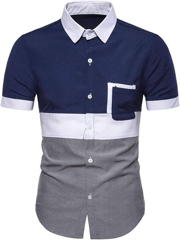 Camisa de Vestir Informal para Hombre, Manga Corta ...