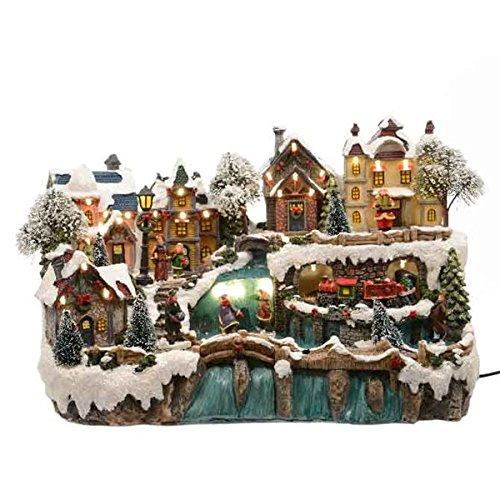 Dorf Miniatur Miniatur Dorf - 40x24x26cm - mit Licht und Wasserfall 0bc5b3