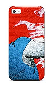 New Tpu Hard Case Premium Iphone 5c Skin Case Cover(animal Man)