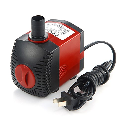 YADICO Submersible Pump High Lift Fountain Water Pump For Aquarium, Fish Tank, Pond, Hydroponics and Graden Sparying 2 Nozzles 25W-320GHP by YADICO