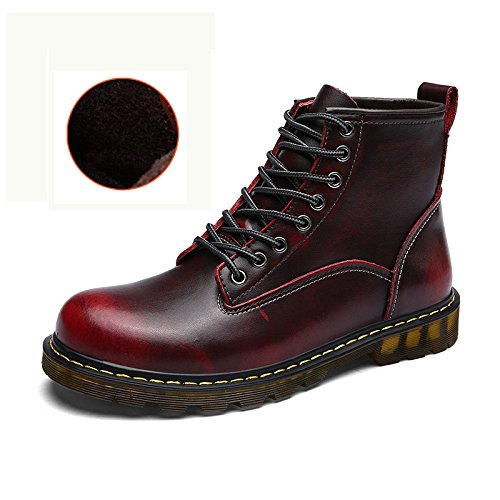Fleece Zapatos hombre para MatchLife cordones Wine de gxPBqn8wRa