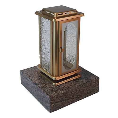 Designgrab aml1agb1para Grab lampada Royal in acciaio inox di colore bronzo, oro, 12 x 12 x 23 cm
