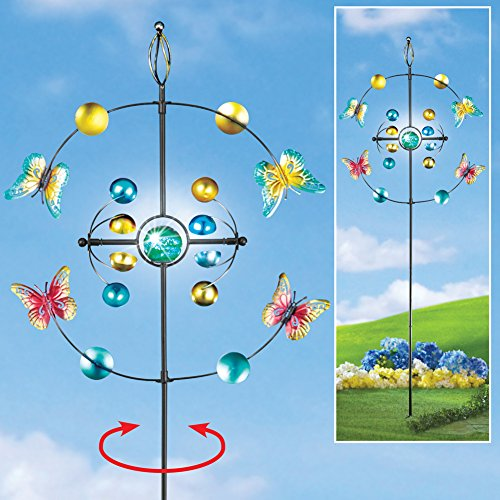 Price comparison product image Butterfly Kinetic Spinner Garden Stake