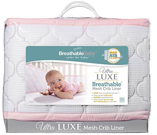 BreathableBaby-Ultra-Luxe-Mesh-Crib-Liner-WhitePink