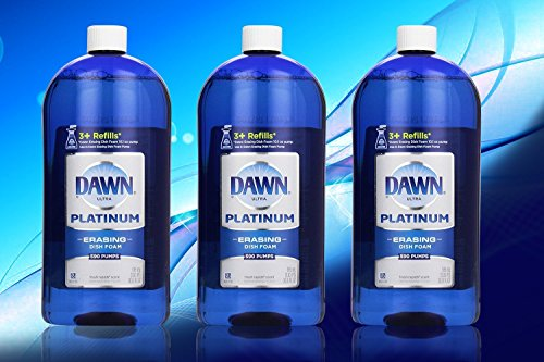 Dawn Platinum Erasing Dishwashing Foam Value Pack, 3 Refills, Fresh Rapids Scent, 30.9 Fluid Ounce