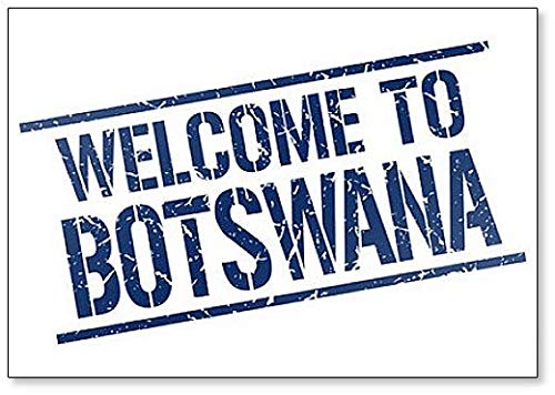 Welcome to Botswana Stamp Illustration Classic Fridge Magnet
