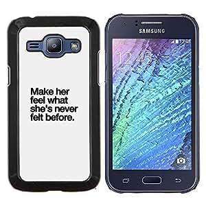 TECHCASE---Cubierta de la caja de protección para la piel dura ** Samsung Galaxy J1 J100 ** --gris haga su cita del amor inspirador