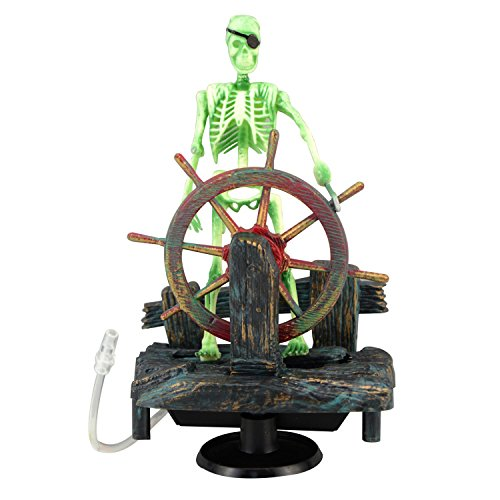 Saim® Pirate Skeletons & Pirate Ships Live Action Aquarium (Action Fish Aquarium)