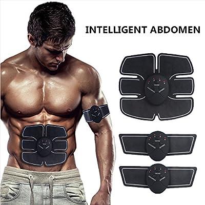 abdominal Exercise musculaire Appareils ABS Fit EMS professionnelle à la maison de ceinture Fitness abdominale pour les femmes et les hommes tonifier, diminuent, Tondeuse, fine, Figurine Transformer