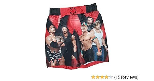 90b6b4c01f466 Amazon.com: WWE The Rock John Cena Swim Trunk, Black (X-Small 4/5): Clothing