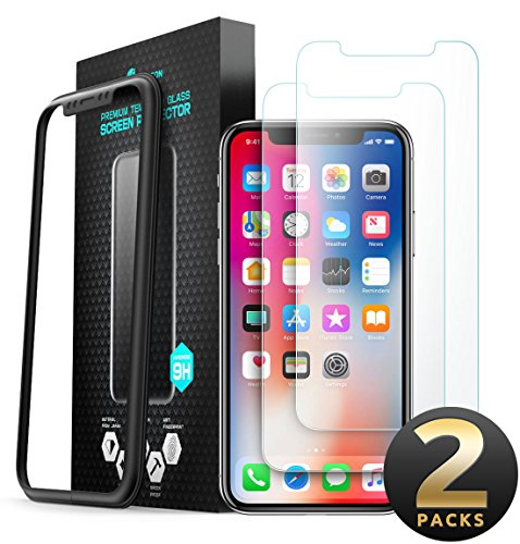 i-Blason Tempered Glass Screen Protector Designed for iPhone Xs (2018) / iPhone X (2017) [2-Pack]