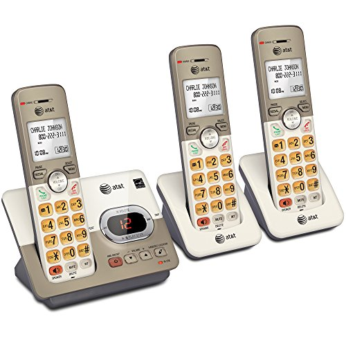 Key Speakerphone - AT&T EL52313 3-Handset Expandable Cordless Phone with Answering System & Extra-large Backlit Keys