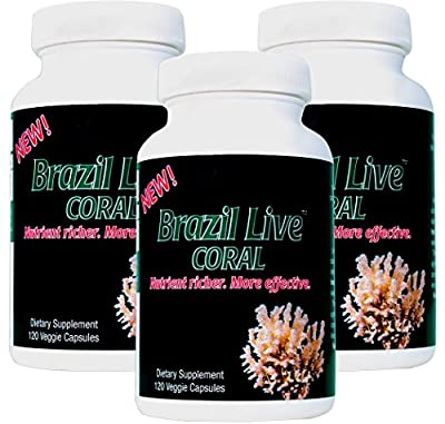 Best Coral Calcium Supplement - Live Harvested & Cold Processed Coral Calcium (360 Veggie Capsules) - from The Beaches of Brazil with Magnesium & Vitamin D3-120-Day Supply - Environmentally Safe