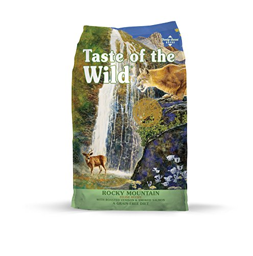 Taste of the Wild Rocky Mountain Grain-Free Dry Cat Food with Roasted Venison & Smoked Salmon 14Lb