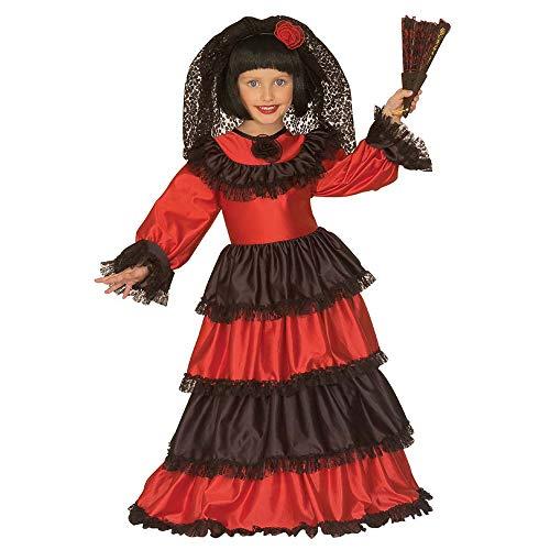 Girls Senorita Child Costume Outfit for Spanish Spain Fancy Dress -