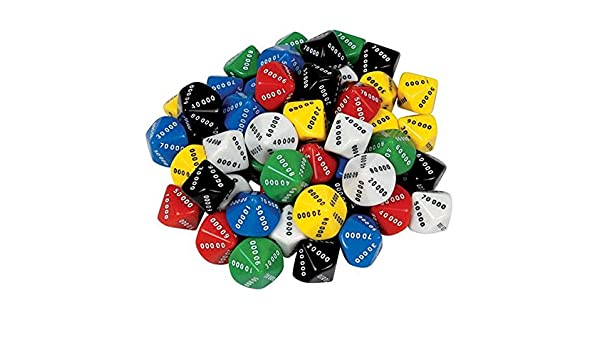D10 Dice 10 Face 00000-90000 (Pack of 50): Amazon.es: Oficina y papelería
