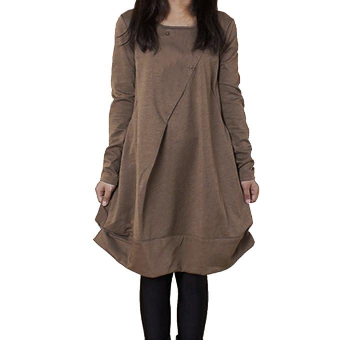 new style e97f8 ab249 Ulanda-EU Vestiti Estivi delle Donne Camicie Oversize ...