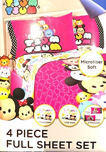 - Disney Tsum Tsum 4 Pc Full Microfiber Sheet Set