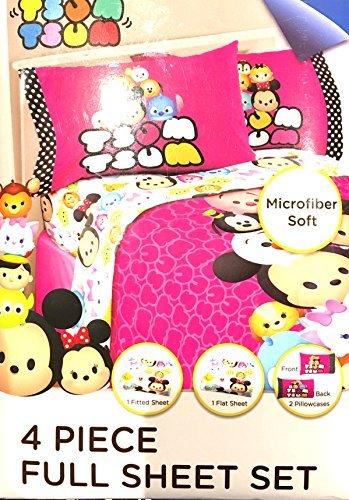 Disney Tsum Tsum 4 Pc Full Microfiber Sheet Set