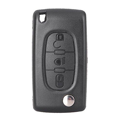 MALLOFUSA Uncut Remote Key Shell Case Keyless Entry Shell Key Fob Citroen C4 C5 C6 C8 Xsara Picasso