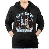 Men's Tiny Toon Adventures - Buster Babs Logo Zip Hoodie Sweatshirt With Kangaroo Pocket