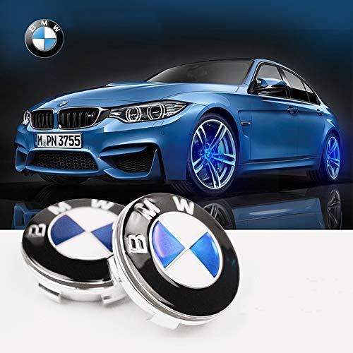 Bearfire 4Pcs Waterproof LED Light Wheel Hub Center Caps Cover for BMW Accessory