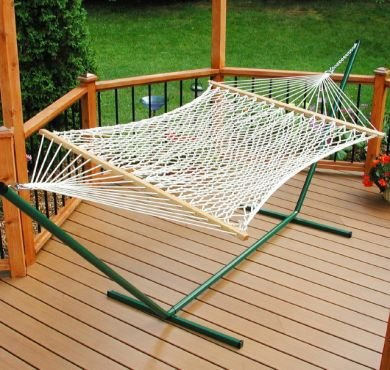 Algoma 4968 2 Point 11' Single Polyester Rope Hammock