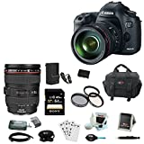 Canon EOS 5D Mark III 22.3 MP Full Frame CMOS Digital SLR Camera with EF 24-105mm f/4 L IS USM Lens + Canon Gadget Bag + LP-E6 Battery + 32GB Accessory Kit