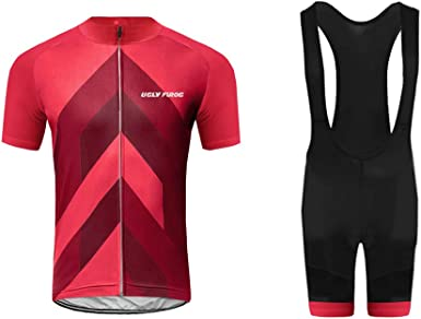 New Mens Team Short Sleeve Jersey Bib Shorts Set Racing Outfits Kits Clothing