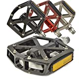 "Lumintrail PD-603S MTB BMX Road Mountain Bike Platform Pedals Flat Alloy Sealed Bearing 9/16"" inch. Comes with our (Black)"
