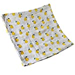 Boy-and-Girl-100-Cotton-Swaddle-Blanket-Cute-Baby-Bamboo-Muslin-Blankets-for-Large-Size-47-x-47-inches-Pear