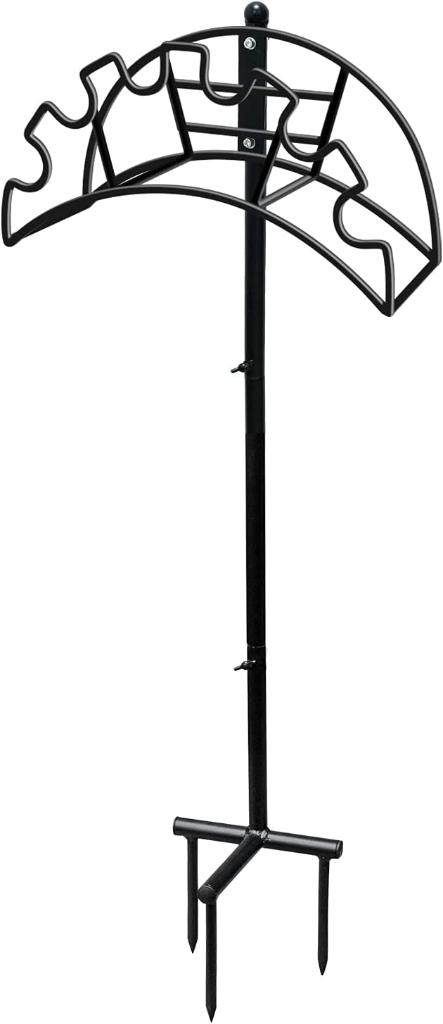 Shade&Beyond Garden Water Hose Holder for Outside Lawn Hose Holder FreeStanding Metal Hose Holder Stake Heavy Duty Hose Pipe Holder Outdoor Yard M